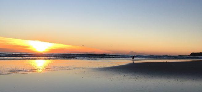 Fingal beach sunrise | See more at www.diywoman.net