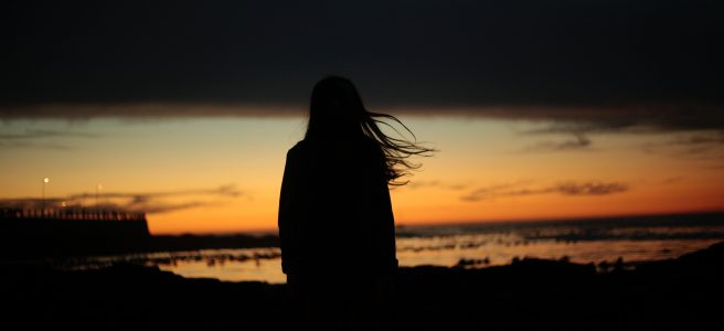 silhouette, woman, beach, sunset | See more at www.diywoman.net