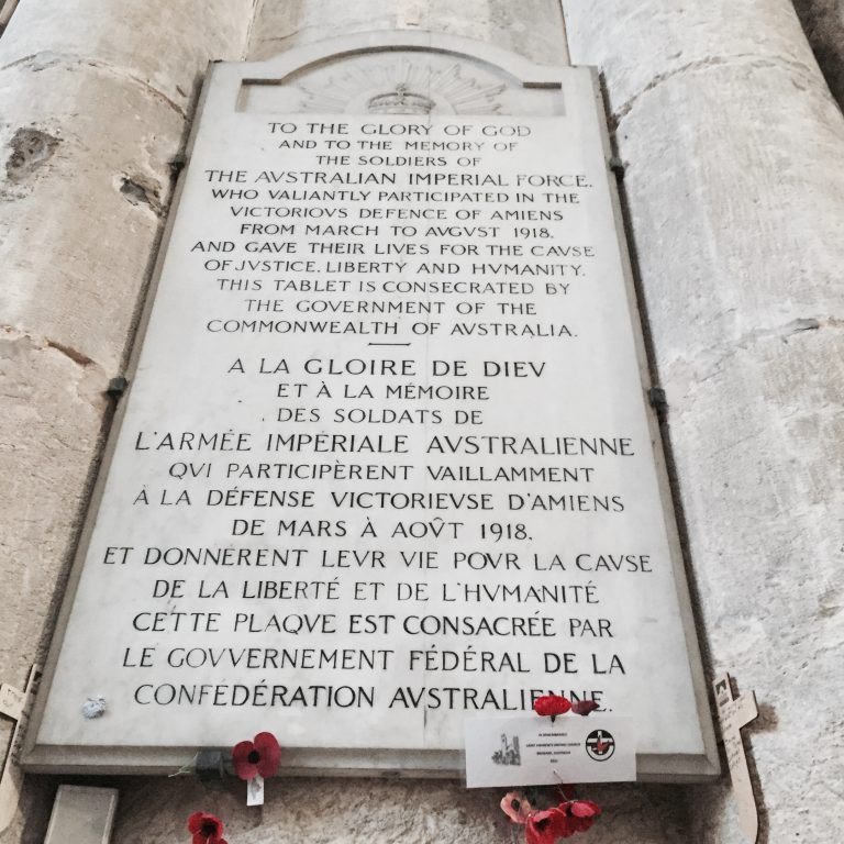 marble plaque, Amiens cathedral, WWI, centenary, armistice   See more at www.diywoman.net