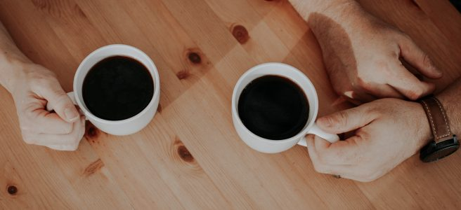 coffee, cups, table, timber   See more at www.diywoman.net