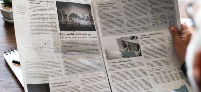 Newspaper, open, reading | See moe at www.diywoman.net
