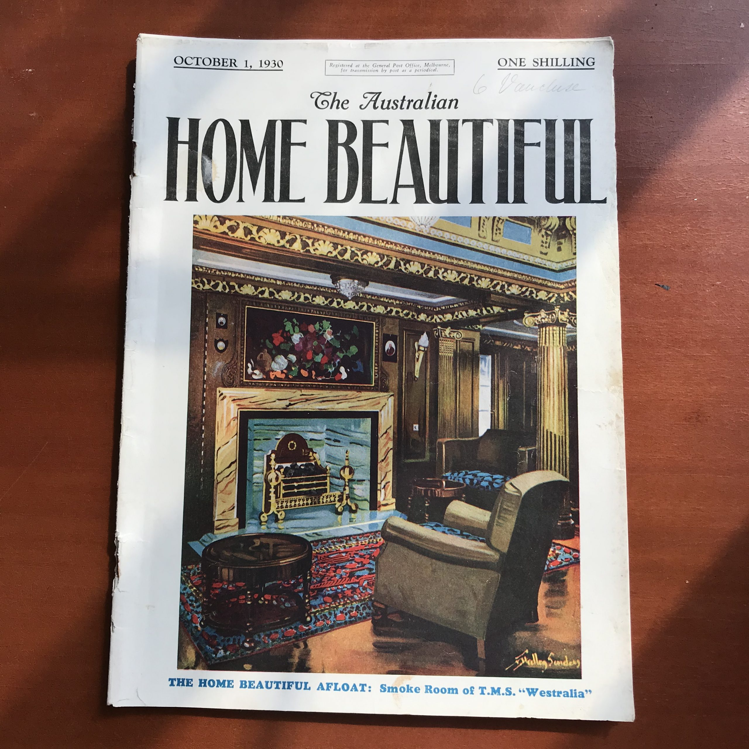 A copy of the October 1930 Home Beautiful magazine