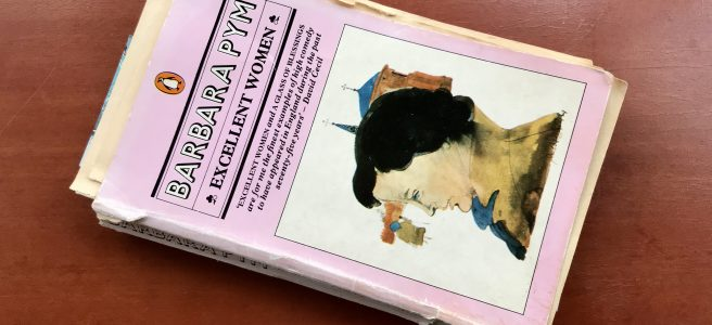 Comfort reading – an old paperback titled Excellent Women by Barbara Pym.