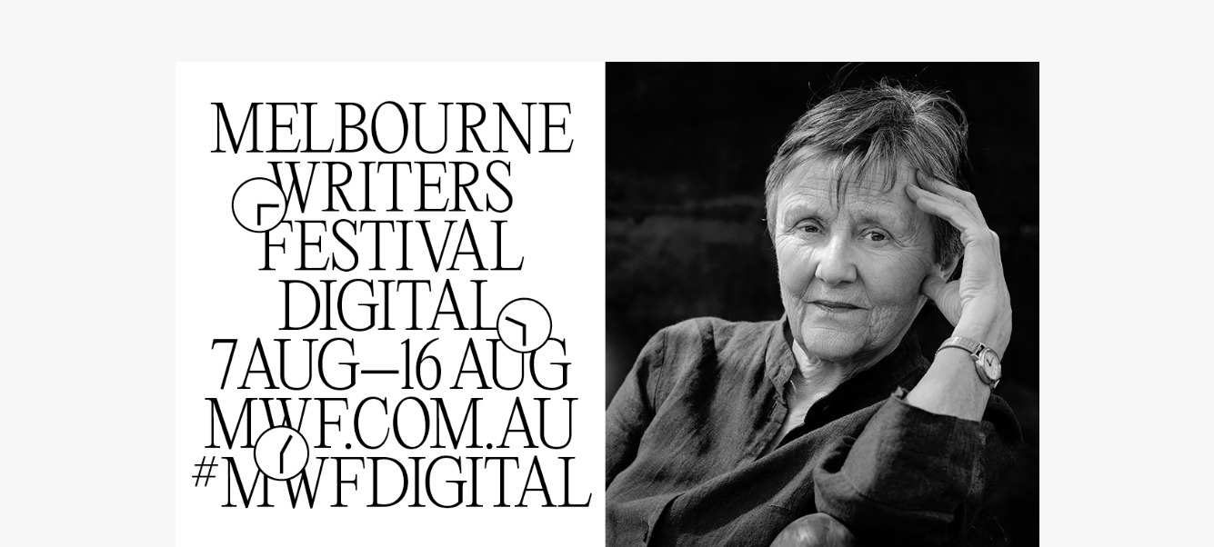 Helen Garner - one of Australia's leading writers - in a Melbourne Writers Festival publicity shot